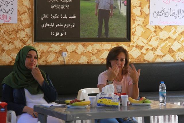 مركز معاً ينظم ورشة حول تحسين مشاركة النساء في العملية التربوية