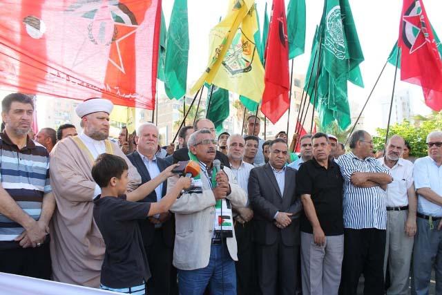 اعتصام حاشد تضامناً مع غزة في صيدا