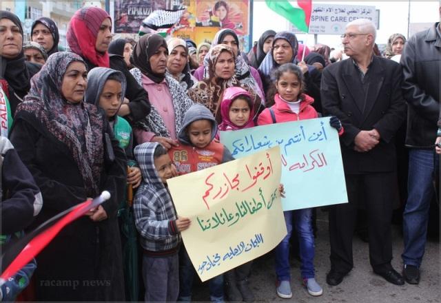 اعتصام جماهيري حاشد في صور رفضاً لسياسة الأنروا الاستشفائية