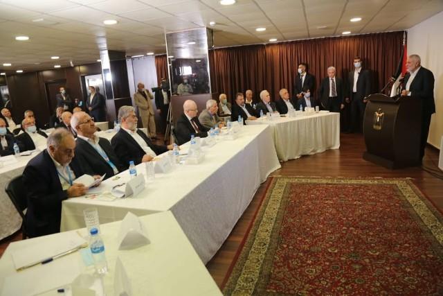 الأمناء العامون للفصائل الفلسطينية: القضية تمر بمرحلة غاية في الخطورة.. ويجب ترتيب البيت الفلسطيني فورًا