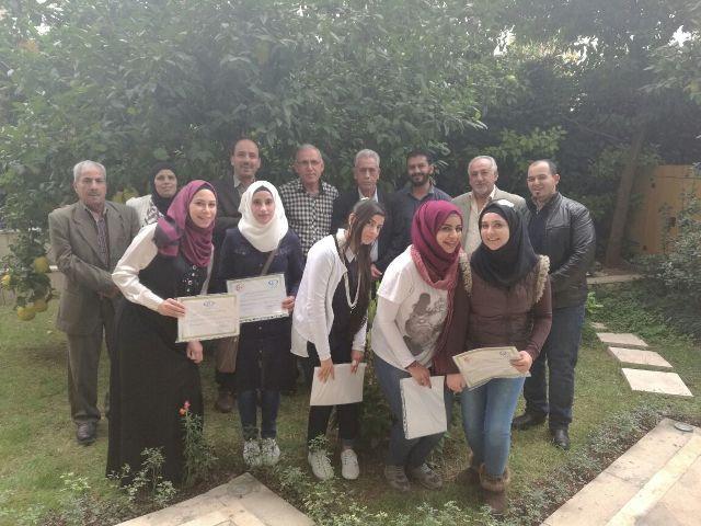 اختتام دورة التأهيل والتدريب الإعلامية لأعضاء المكتب الإعلامي بدمشق
