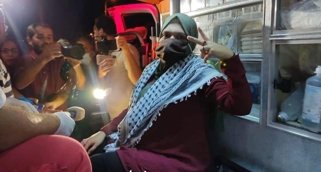 الافراج عن الأسيرة الحامل أنهار الديك من سجون الاحتلال