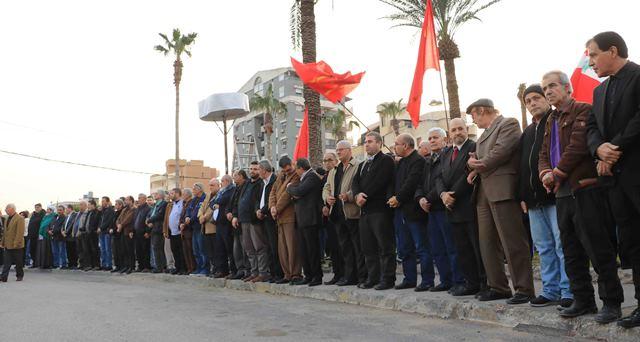 في احتفال حاشد في ساحة الشهداء في صيدا في الذكرى 35 للتحرير، أسامة سعد يشدد على أن شباب صيدا في قلب معركة التحرير، وفي قلب معركة التغيير