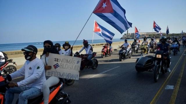 كوبا: المئات يتظاهرون بالسيارات والدراجات رفضًا لتواصل الحصار الأميركي