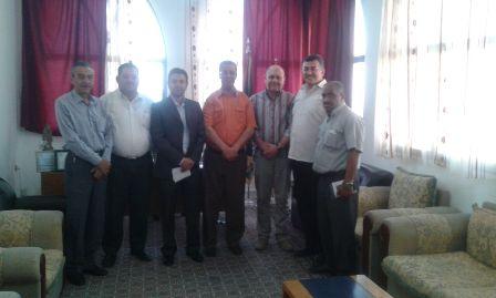 زار وفد من اللجان العمّالية الشعبية الفلسطينية إتحاد نقابات حركة أمل في منطقة صور.