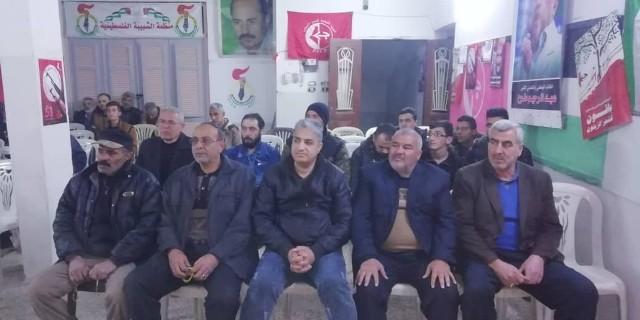 لقاء سياسي في مُخيّم النيرب بسوريا بمُناسبة ذكرى يوم الأرض الخالد