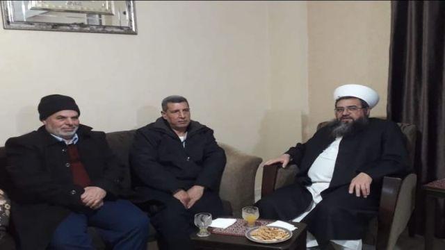 مسؤول ملف الاسرى في الجبهة الشعبية في لبنان يستقبل الشيخ العيلاني