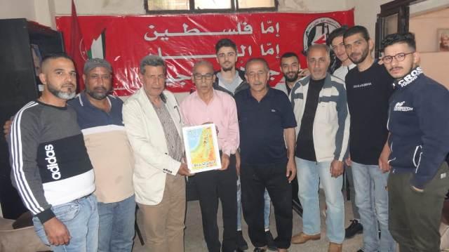 لجنة العمل النقابي و الجماهيري في لبنان كرمت رابطة الشهيد وفيق منصور العمالية واللجان العمالية الشعبية الفلسطينية في منطقة صيدا