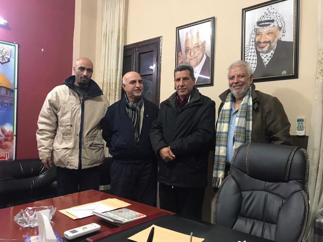 مسؤول العمل النقابي والجماهيري في الشعبية يلتقي رئيس اتحاد الفنانيين الفلسطينيين