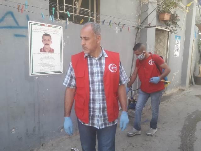 استمرار حملة الرش والتعقيم حفاظاعلى الأمن الصحي و المجتمعي لشعبنا في مخيم عين الحلوة