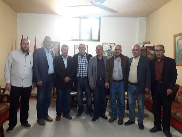 جبهة التحرير الفلسطينية تزور الشعبية في صيدا