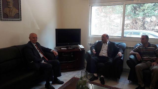 وفد قيادي من الجبهة الشعبية لتحرير فلسطين في البقاع يزور الوزير السابق عبد الرحيم مراد