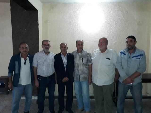 اللجان العمالية الشعبية الفلسطينية في منطقة صيدا تزور الأخوة في لجنة قاطع الجسر
