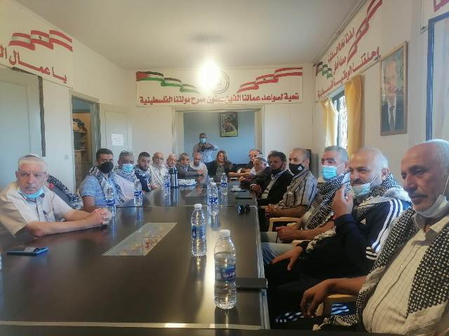 الأمين العام للاتحاد العام لعمال فلسطين يستقبل وفدًا من وحدة النقابات والعمال في حزب الله