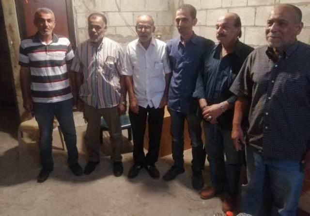 اللجان العمالية الشعبية الفلسطينية تزور لجنة حي الجنوبي المشترك في مخيم عين الحلوة