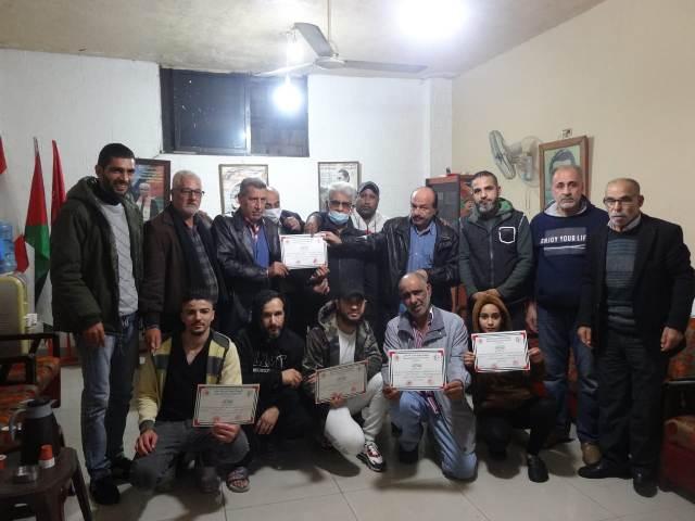 رابطة الشهيد وفيق منصور العمالية تكرم أعضاء الرابطة العاملين في العمل التطوعي الاجتماعي
