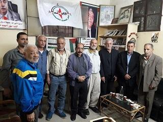 الشعبية في صيدا تزور جبهة النضال الشعبي الفلسطيني