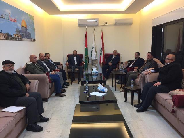 لقاء قيادي لـ حركة حماس و  الجبهة الشعبية في بيروت