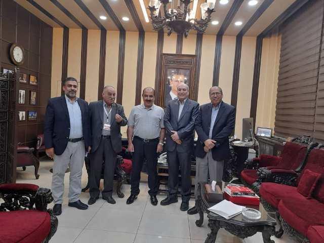 الأمين العام المساعد لحزب البعث العربي الاشتراكي المهندس هلال هلال يستقبل وفدا من الجبهة الشعبية لتحرير فلسطين