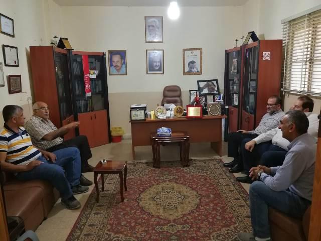 وفد من الحزب القومي الاجتماعي السوري يزور مكتب الجبهة الشعبية في بيروت