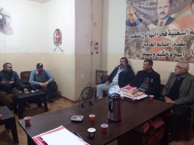 وفد من مهجري فلسطينيي سوريا يزور الجبهة الشعبية