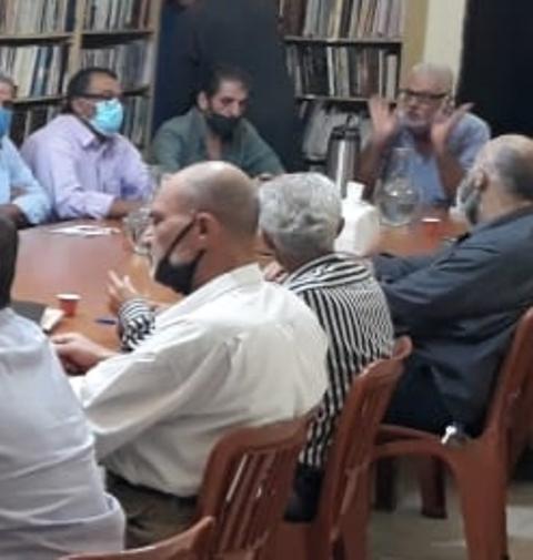 هيئة العمل الفلسطيني المشترك في منطقة صيدا تعقد اجتماعها الدوري