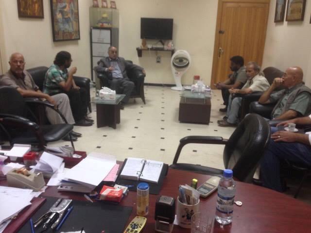 نائب الأمين العام أبو أحمد فؤاد يلتقي وفدا من اتحاد الفنانيين التشكيليين بسوريا