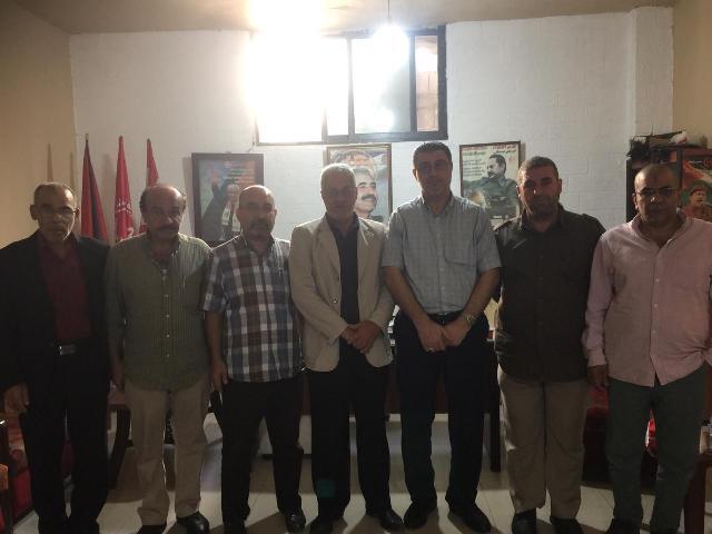 وفد من حركة الجهاد الإسلامي يزور مكتب الشعبية في مخيم عين الحلوة