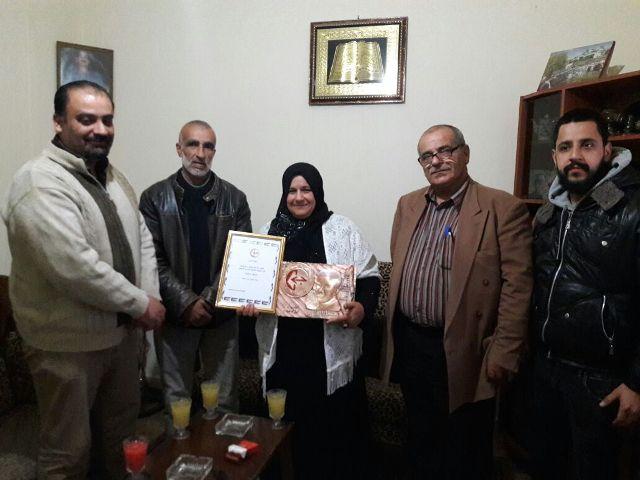 الجبهة الشعبية لتحرير فلسطين في الشمال تزور عائلة الرفيق الشهيد نبيل السعيد