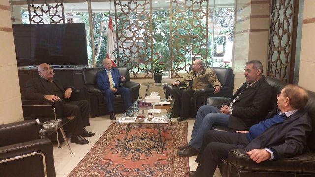 الشعبية في لبنان تلتقي الوزير السابق عبد الرحيم مراد