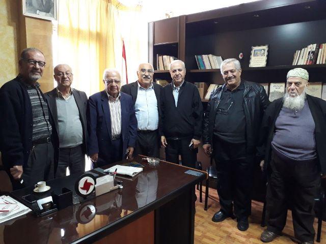 الجبهة الشعبية تلتقي الحزب السوري القومي الاجتماعي