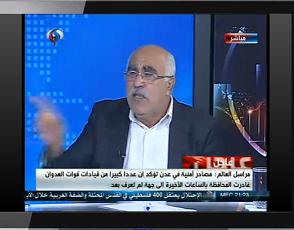 أبو جابر: على القيادة الفلسطينيّة تطوير الشكل النضالي للشعب الفلسطيني في المرحلة القادمة.