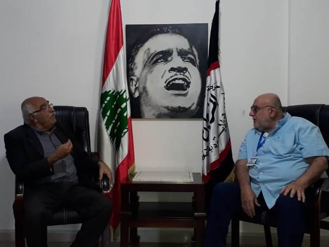 الشعبية تزور رئيس الهيئة التنفيذية لحركة الناصريين المستقلين