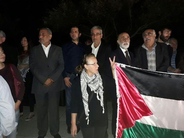 اعتصام أمام السفارة البريطانية لمناسبة الذكرى المئوية لوعد بلفور