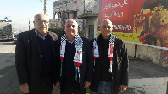 الجبهة الشعبية لتحرير فلسطين تكرم رئيس اتحاد بلديات البقاع الأوسط