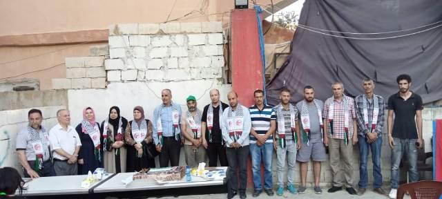 منظمة الشبيبة الفلسطينية تقيم حفل تكريم للمشاركين في حملات دعم العائلات المحتاجة في مخيم نهرالبارد