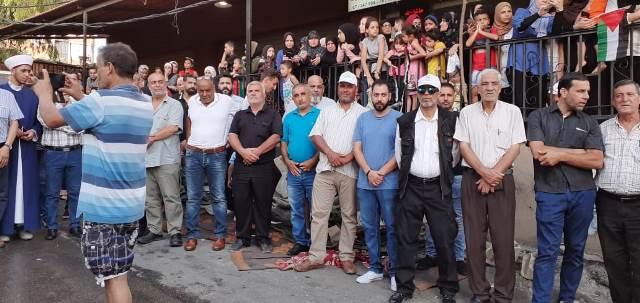 اعتصام جماهيري في مخيم البرج الشمالي رفضاً لإجراءات وزارة العمل اللبنانية