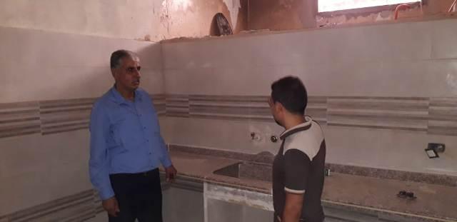 اللجان الشعبية  تتابع أعمال ترميم المنازل في مخيم نهرالبارد
