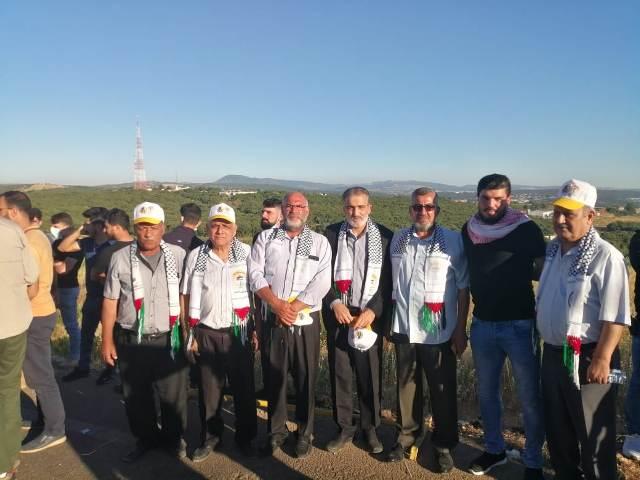 وفد من الجبهة الشعبية يشارك في وقفة تضامنية على الحدود الفلسطينية دعماً واسناداً للشعب الفلسطيني ومقاومته الباسلة