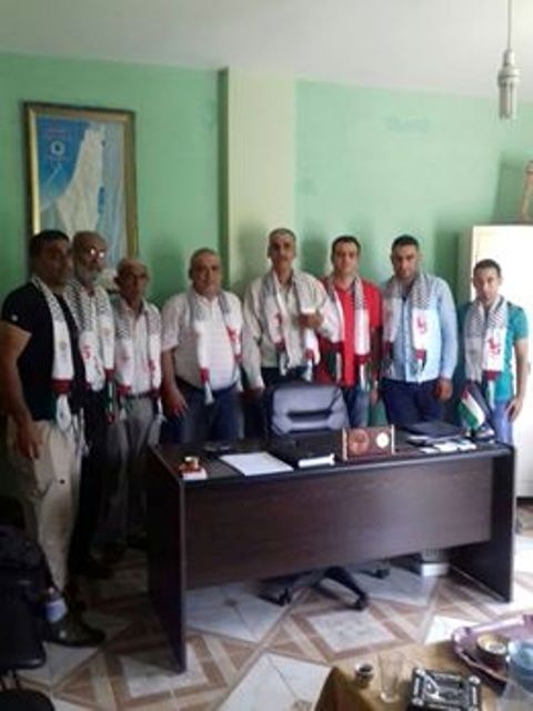 اللجان الشعبية لمنظمة التحرير الفلسطينية تستضيف رئيس بلدية وادي النحلة-المنكوبين ومهندسي ال UNDP.