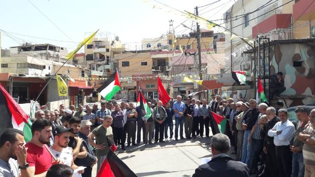 اعتصام جماهيري في مخيم الرشيدية إسنادا لانتفاضة الشعب الفلسطيني، ورفضا لتصريحات بن سلمان