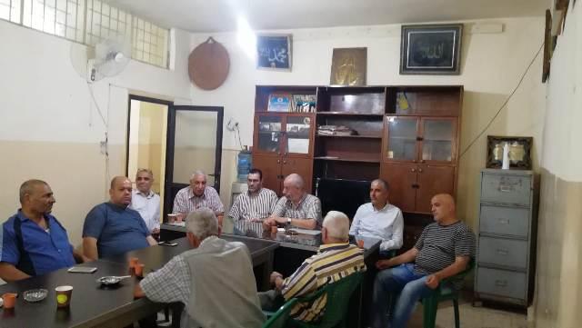 قيادة فصائل منظمة التحرير الفلسطينية في الشمال تلتقي اللجنة الشعبية لمخيم البداوي