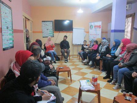 لقاء حول مقاطعة الشركات الداعمة لإسرائيل في مخيم عين الحلوة.