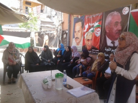 ندوة صحية في خيمة التضامن مع الأسرى بمخيم عين الحلوة