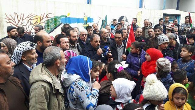 الحراك الشعبي المشترك في مخيم عين الحلوة يقيم اعتصامًا حاشدا ضد سياسات الأونروا