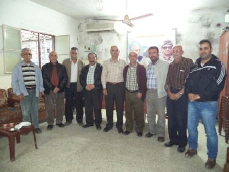 اللجان العمالية الشعبية الفلسطينية تزور المكتب العمالي الحركي
