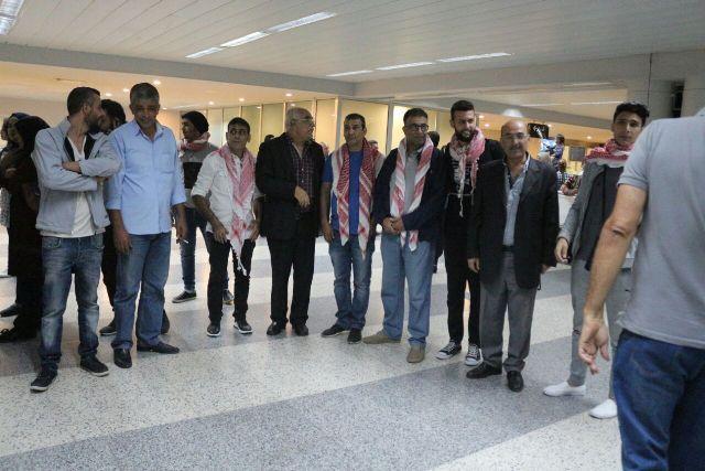 عرس وطني في استقبال الشبيبة في مطار بيروت