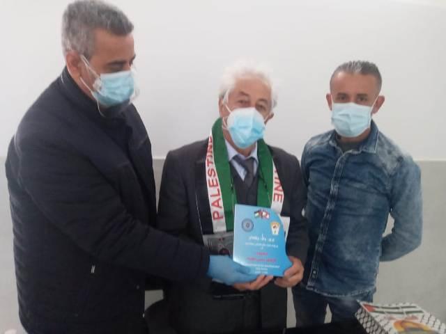 المكتب الاداري لاتحاد نقابات عمال فلسطين في صور يكرم الدكتور علوية