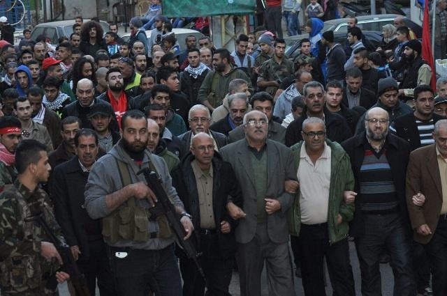 مسيرة جماهيرية في الشمال لمناسبة انطلاقة الجبهة الشعبية لتحرير فلسطين