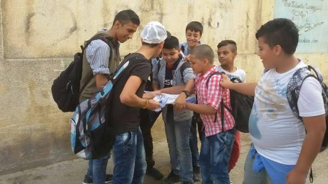 أطفال وشبان فلسطين، شمال لبنان يتضامن مع أطفال وشبان القدس والضفة .